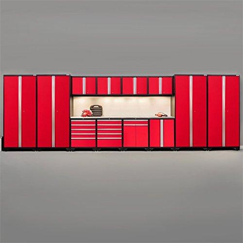 NewAge Pro Series 14 Piece Garage Cabinet Set in Red