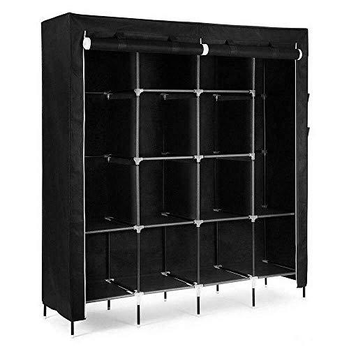 DAVs Store New Compact Large Portable Clothes Shoe Rack Organizer Closet Wardrobe Garment Storage Bedroom Accent Furniture
