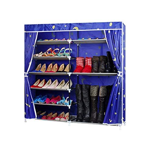 Shoebox Double Row Simple Oxford Cloth Shoe Rack Dustproof Assembly Large Home Shoe Cabinet FANJIANI Color  B