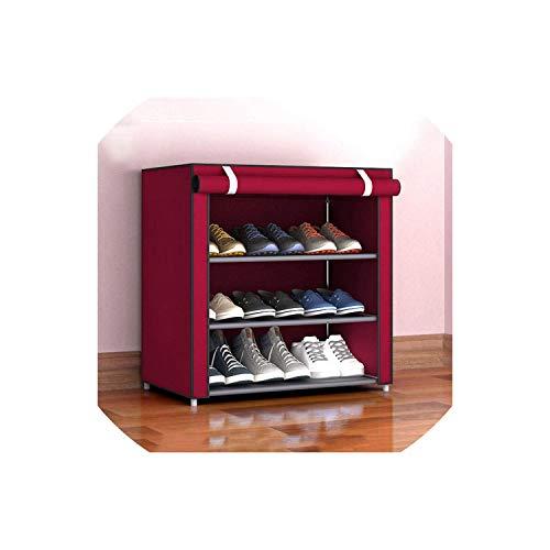 Shoe RackDustproof Home Shoe Racks Organizer Multiple Layers Shoes Shelf Stand Holder Door Shoe Rack Save Space Home Wardrobe StorageStyle1 S