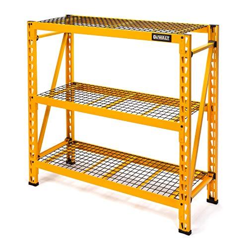 DEWALT 4-Foot Tall 3 Shelf Steel Wire Deck Industrial Storage Rack Adjustable for Custom WorkshopGarage Storage Solutions Total Capacity 4500 lbs