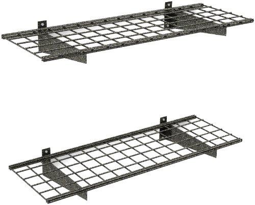 HyLoft 00651 45-Inch by 15-Inch Garage Wall Shelf Storage Hammertone 2-Pack