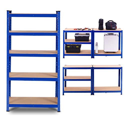 Tangkula Metal Storage Shelves Heavy Duty Steel Frame 5-Tier Organizer High Weight Capacity with Adjustable Shelves Multi-Use Storage Rack for Home Office GarageStorage Metal Shelf 36Lx72H 1