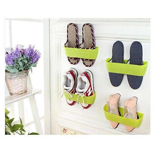 Kemilove 1PC Wall-mounted Shoes Rack Door Wall Vertical DIY Shoe Rack Bathroom Shoe Rack Random color