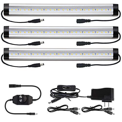 Under Cabinet LED Lighting Kit Plug in - Albrillo Dimmable Counter Light Strips 900 Lumen Bright Kitchen Closet Shelf Lights Daylight White 5000K