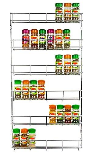 6 Tiers Door Spice Rack Organizer Shelf Jar Kitchen Cabinet Cupboard Wall Mount Storage by eStoreShop