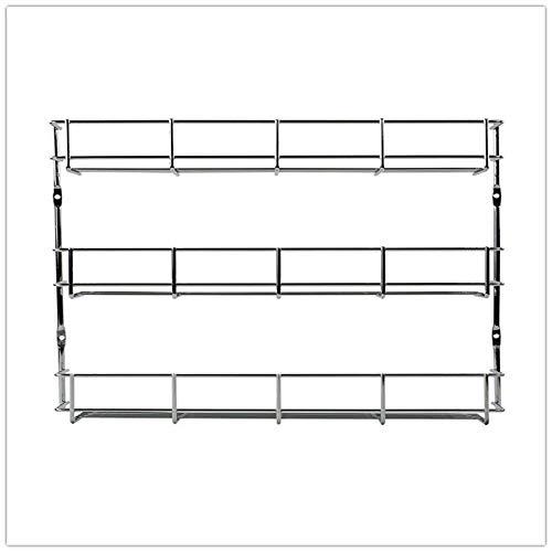 Vanda6549 Door Wall Mount Storage Shelf Kitchen Pantry Holder Cabinet Organizer Spice Rack 3 Tiers