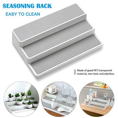 Weoto Seasoning Storage Rack 3-Tier Spice Pantry Kitchen Cabinet Organizer Kitchen Cabinet Spice Shelf Organizer