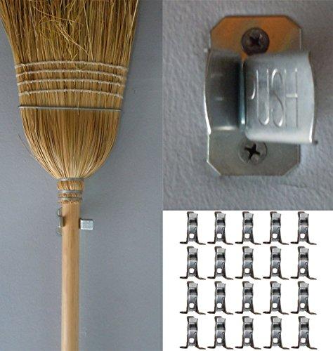 Bulldog Clamp 20 Pack Spring Grip Garage Closet Wall Organizer for Brooms Mops Rakes Etc