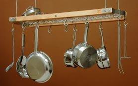 JK Adams Mini Gray Oval Ceiling Hanging Pot Rack