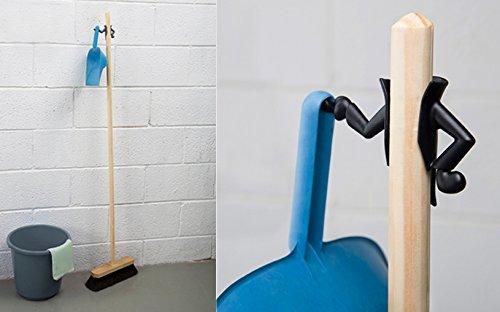 Peleg Design Mr Brooman White Dustpan Holder Broom Hanger