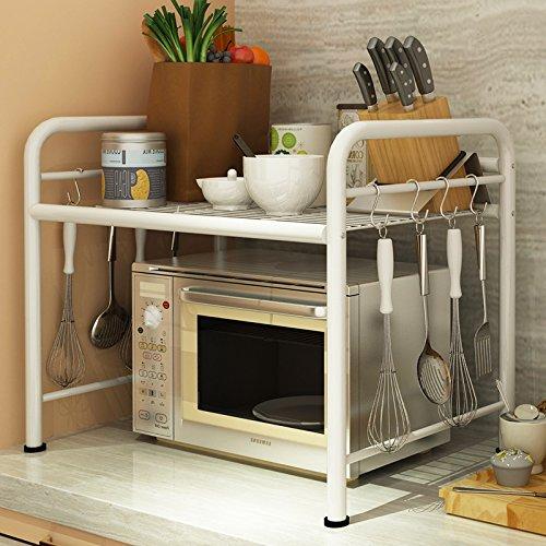 YZL Kitchen racks floor oven racks pot racks stainless steel multi-layer racks storage shelves shelf  50cm white