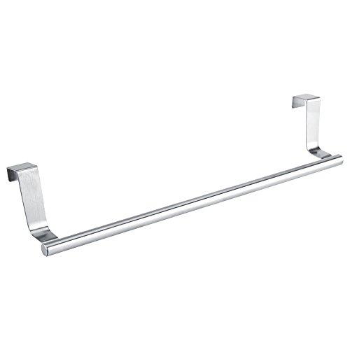 Bathroom Towel Holders Stainless Steel Hanging Bar Rail Drawer Tower Holders Storage Holder Over Door Hanger Cabinet Kitchen BathroomLong