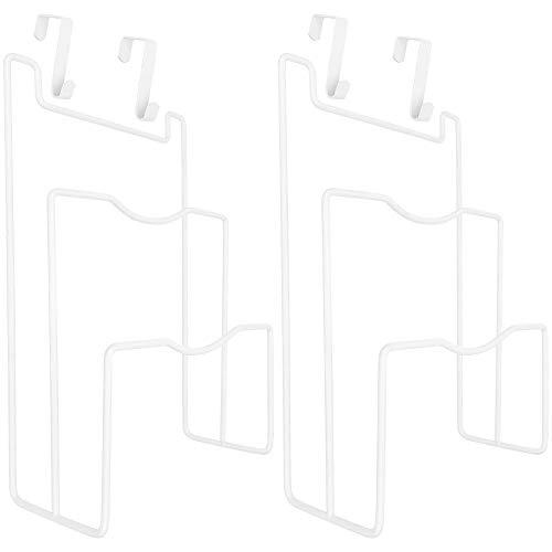 Southern Homewares SH-10283-2 Pot Pan Lid Hanging Organizer Rack Set of 2 White Kitchen and Pantry Storage Hanger One Size
