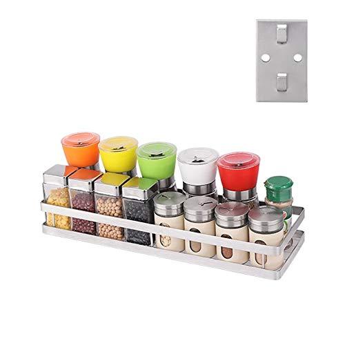 Ysswjzz Utensil Holder,Wall Mounted Kitchen Rack,Wall Mounted Pots Pan Storage  Metal Saucepan Rack Spice Jar Shelf