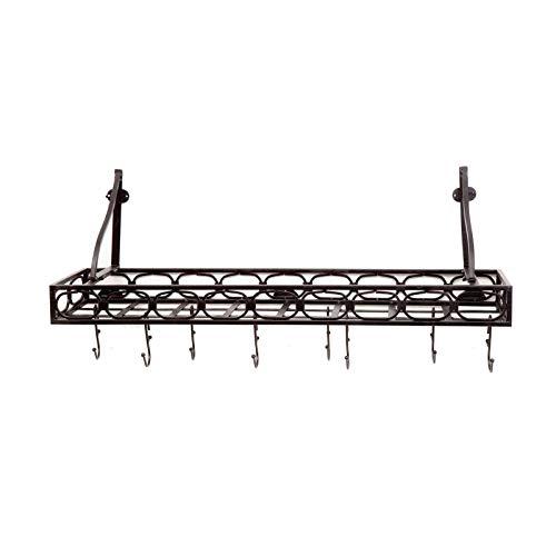 OKSLO Bookshelf wall mount pot rack Model 5365-11262-4892-6897