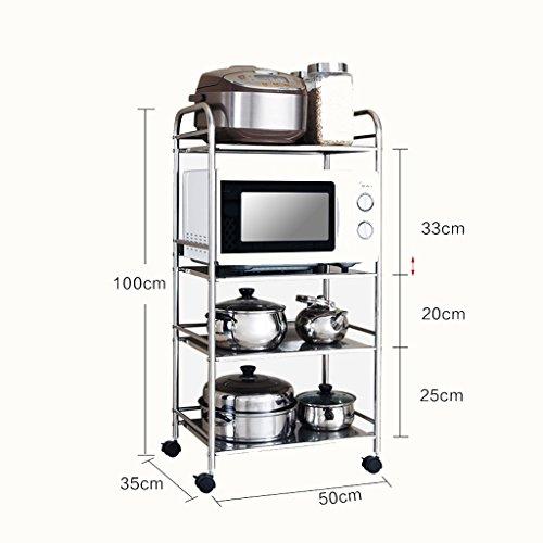 Kitchen Rack Kitchen Shelving Microwave Oven Rack Landing Stainless Steel Pot Rack Kitchen Supplies Admission Storage Rack