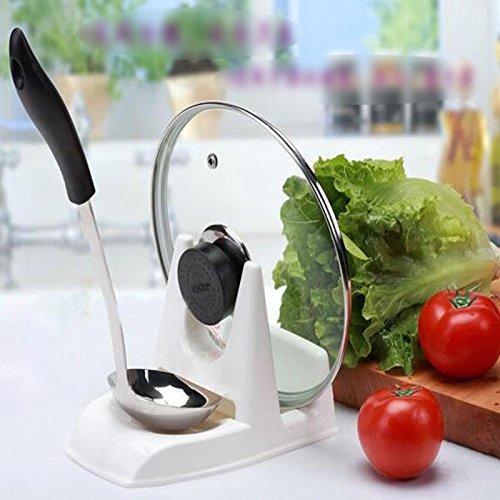 GreenSunTM kitchen storage design cooking tool spoon pot lid holder shelf cover dispenser pan pot lid racks spoon rest utensilio de cozinha