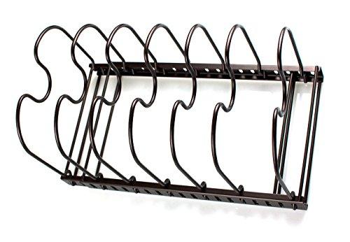 MegaTrue Extendable Adjustable Pan Pot Lid Organizer Rack Cabinet Countertop Holder Storage for Kitchen