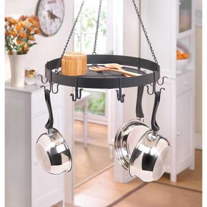 Kitchen Ceiling Mounted Pot And Pans Lid Rack Home Bar Storage Iron Shelf Hanging Holder Hooks Decorative