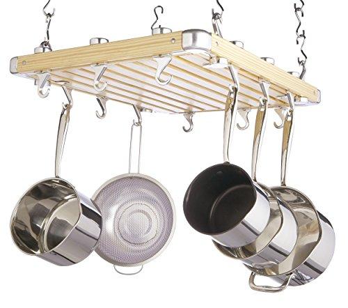 Kitchen Craft Ceiling Hung Pot  Pan Storage Rack