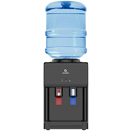 Avalon Premium HotCold Top Loading Countertop Water Cooler Dispenser With Child Safety Lock ULEnergy Star Approved- Black - A1CTWTRCLRBLK