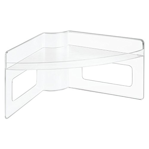 InterDesign Lazy Susan Storage Shelf with Handles For Kitchen Cabinets Pantry Clear