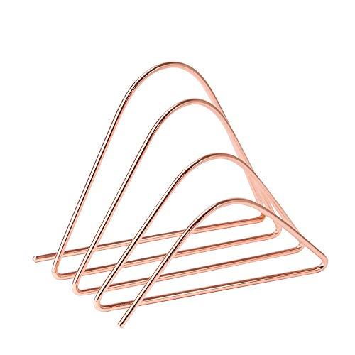 U Brands Desktop Letter Sorter Wire Metal CopperRose Gold