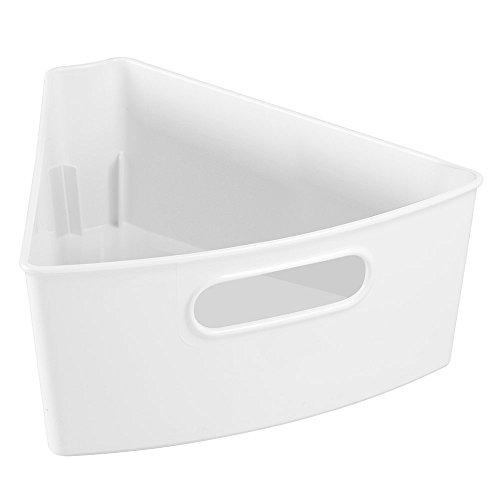 InterDesign Kitchen Lazy Susan Pantry Cabinet Binz 18 White