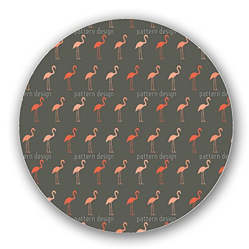 Pretty Flamingo Lazy Susan Small Light Bamboo Turntable Kitchen Storage Custom Printed