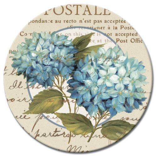CounterArt Susan Lazy Susan Serving Plate Blue Hydrangeas