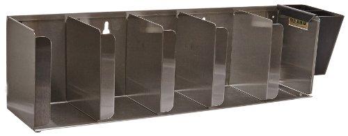 San Jamar L1022 Stainless Steel Adjustable Lid Organizer 25-14 Width x 6-12 Height x 5-18 Depth 5 Stack Capacity
