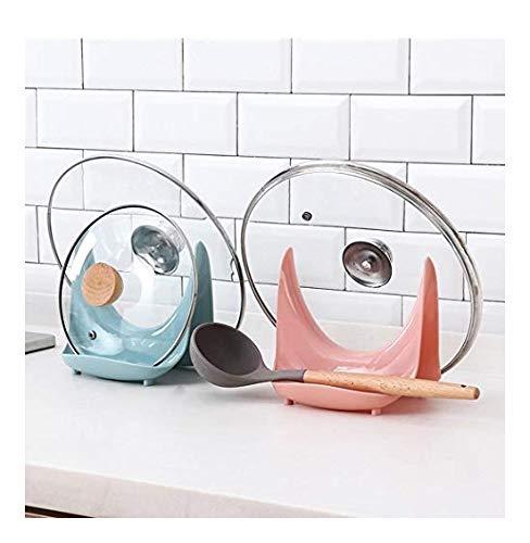 dozenla Kitchen Pot Cover Lid Shell Stand Holder Storage Rack Cooking Tools Storage Racks