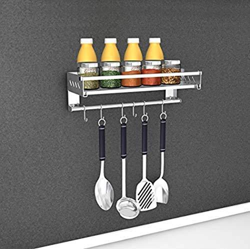 Hanging Spice-Rack-Organizer-for-Wall Stainless-Steel Seasoning Storage Shelf Kitchen Stainless Steel 157