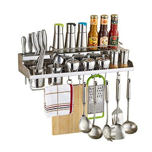 LIIYANN Kitchen Racks Home Kitchen Kitchen Shelf Stainless Steel Wall Hanging Spice Rack Supplies and Accessories Hanger Size  50 10 20cm