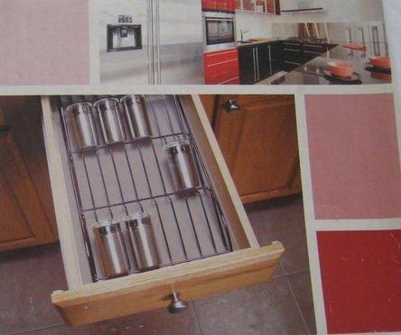 Metropolis Collection In-drawer Spice Rack Black Metallic Finish