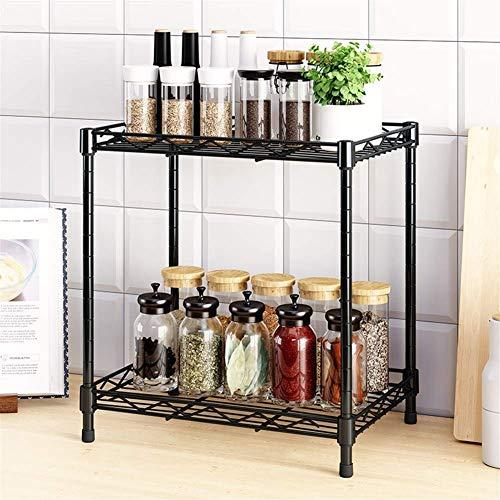 Kitchen 2 Tier Spice Rack Spice Organizer Spice Tray Kitchen Racks Storage Metal Spice Rack Kitchen Counter Storage Spices Rack Size 25 35 38cm