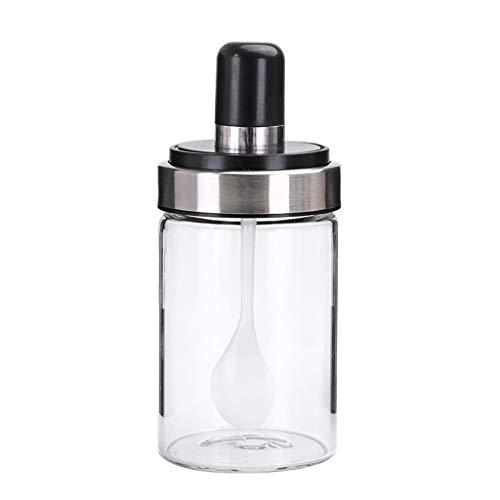 Lomsarsh Kitchen Supplies Jar Spice Jars with Spoon Spice Bottle Salt Storage Box Pepper Shaker Jar Spice Tray Clear
