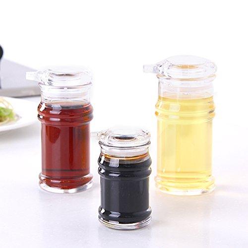 ASIBG Home Seasoning spice jars plastic Oiler bottle of vinegar pot gift set bottle large medium small