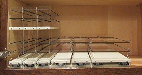 Vertical Spice - x10 Bundle - Spice Rack  Storage Organizers - 3 Product Shallow Combination Kit 222x2x10 33x1x10 6x1x10