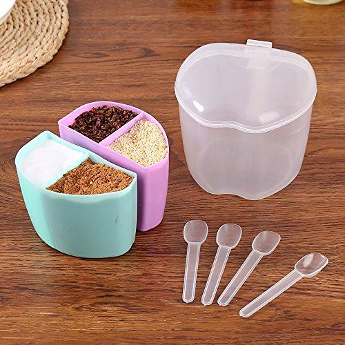 CLG-FLY Seasoned kitchen spoon style box plastic box of sugar seasoning spice jars salt shaker spice box Spice jar