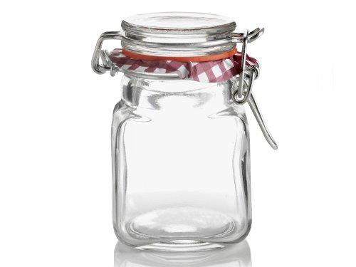 Kilner Square Clip Top Spice Jar 2-Fl Oz