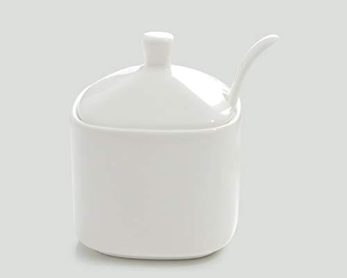 ZTMN Bone China Square Spice Jar Kitchen Supplies Ceramics Condiment Bottles Storage Jar Color  1