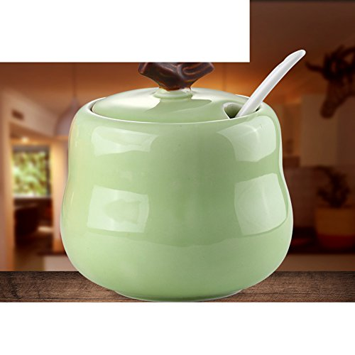 European ceramic Spice jar the cruet salt shaker tank seasoning box pepper pot seasoning jars-B