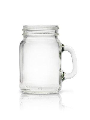 4oz Mini Mason Handled Mug Salt and Pepper Spice Shaker Jar Pack 24 with caps Gold Metal Cap
