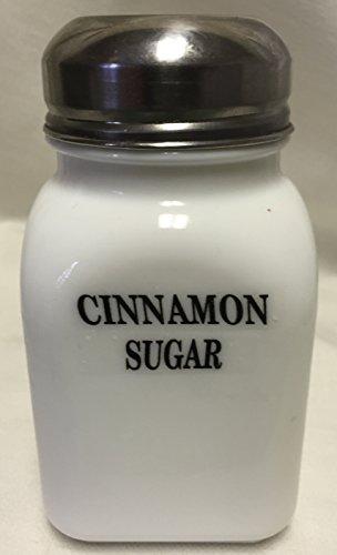 Square Stove Top Spice Shaker Jar - Mosser Rosso - USA - Milk Glass Cinnamon Sugar Block