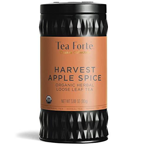 Tea Forte Organic Herbal Tea Makes 35-50 Cups 388 Ounce Loose Leaf Tea Canister Harvest Apple Spice