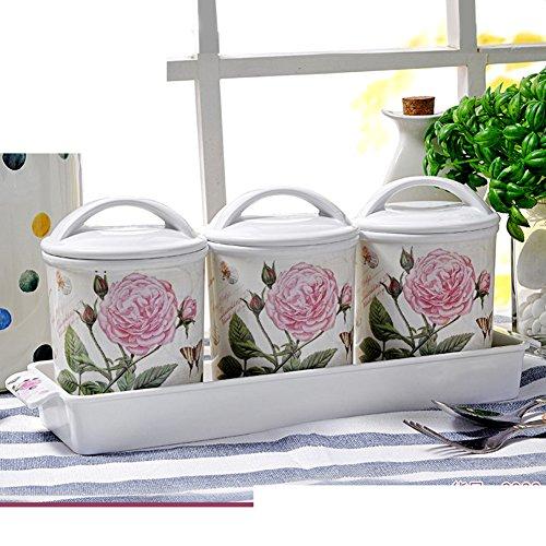 European-style kitchen Spice jarseasonning box seasoning bottlesCreative kitchen storage four-piece suit-A