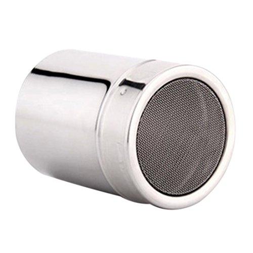 Enerhu Stainless Steel Pepper Shaker Seasoning Bottle Salt Pot Spice Jar Container