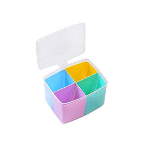 Spice Jar Container Sugar Food Kitchen Storage Box w Spoons - 2